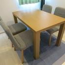 IKEA ダイニングテーブル &チェア4脚セット買換えの為お譲りい...
