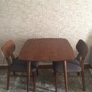 EMOダイニングテーブル 椅子1脚つき