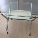 値下げ★ガラステーブル 円形 ローテーブル リビング