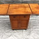 キッチンワゴン キャスター付き 木製 アンティーク調