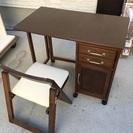 折畳みデスクと椅子のセット幅89奥行50高さ70