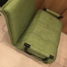 ベッドにもなる椅子 緑