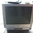 21型フラットブラウン管東芝製テレビデオ地デジチューナー付