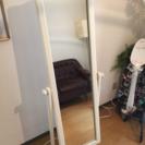 ヨーロッパ風 白い全身姿見鏡を200円で🇬🇧