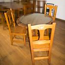 丸テーブル+椅子3脚 値下