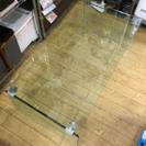 オシャレ FrancFrancフランフラン ガラストップセンターテーブル