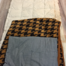 夏用羽毛布団、ブランケットと敷きパッド