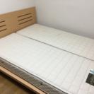 (終了)ベッド クィーンサイズ マットレス フレーム