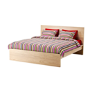 IKEA クイーンサイズベッド フレームのみ(スノコ付)美品