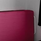 ピンクの折りたたみ式パイプベッド