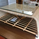 光製作所 籐製 リビングテーブル ...