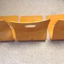 おしゃれな木製の座椅子 3脚セット