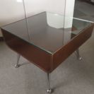 【取引中】オシャレなガラストップ・コーヒーテーブル