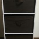 【カラーボックス】ホワイト 3段