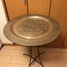 インド製トレイ上乗せサイドテーブル