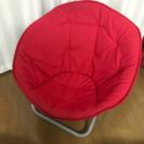 フォールディングチェアー 赤(折りたたみイス)