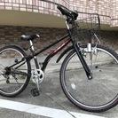 26インチジュニアマウンテンバイク 黒 子供自転車 ライト 前カゴ...