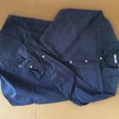 UNIQLO紺色ドットシャツ Sサイズ
