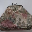 (B-212)ゴブラン織り がま口 ポーチ 花柄