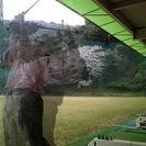河川敷でゴルフ