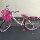 ★女児自転車 ピコリーナラブ 24 ★ ピンク&ホワイト  オシャ...