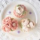 【募集】6月2日(金)じっくりお花絞り☆あんフラワー®カップケーキ...