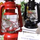 【残りわずか!】アメリカン ヴィンテージ・レトロ》灯油ランプ <赤...