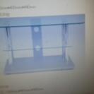 二段 ガラスのテレビ台