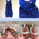 発表会  ワンピースドレス140&サンダル21.0セット