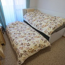 IKEAシングルベッド&引き出し型ベッド配達込5000円