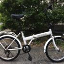 折りたたみ自転車(20インチ、6段変速)