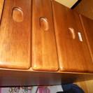 木製 4段引き出し棚