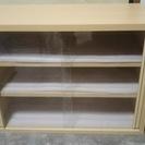 食器棚 木目調 棚2段 分解可能 中古
