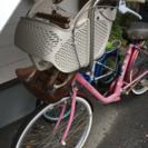子供乗せ自転車三人乗り