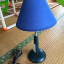 電気スタンド レトロな青色