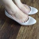 パンプス 22.5センチ ピンクベージュ ギャローリア