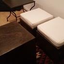 モロッコモダン家具 椅子2+サイドテーブル2セットで