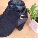 可愛いブラックショートブーツ(*^_^*)