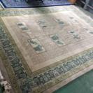 手織り ウール 中国緞通 6畳相当 段通カーペット 絨毯