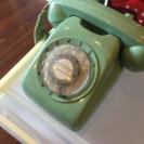 レトロ 黒電話 緑色