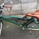 緑のロードバイク