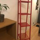 IKEA ラック レッド4段