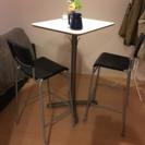 IKEA バーテーブルとスツール