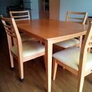 テーブル+椅子4脚セット、お譲りします。