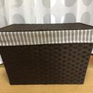 ニトリ ラタン風収納蓋付きボックス