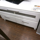 札幌 引き取り TVボード/テレビボード ロータイプ 白/ホワイト