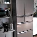 三菱ハイスペック冷蔵庫(2015年製)クリスタルロゼ/フレンチドア