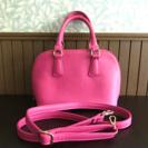 ピンクのちょっとお出かけ用バッグ