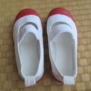 moon star上履き14cm 日本製 レッド 洗濯済み