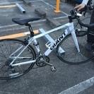 8万円超で購入、ほぼ未使用のロードバイク 白